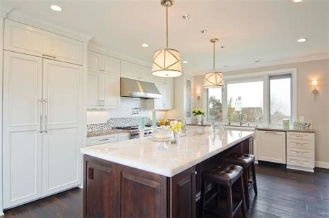 white kitchen wood island photos hgtv