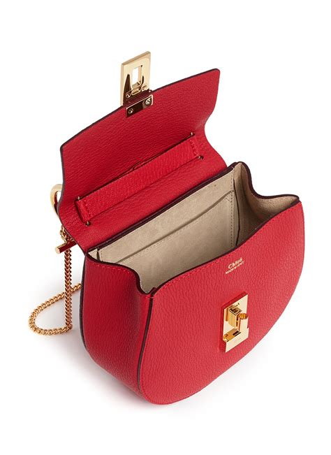 Bag It Treesje Handbags Are Like Buttah Second City Style Fashion by Lyst Chlo 233 Drew Mini Grained Leather Shoulder Bag In