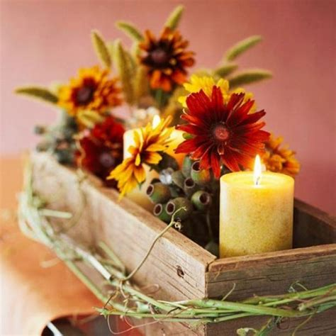 centerpieces made from nature 30 thanksgiving decor ideas