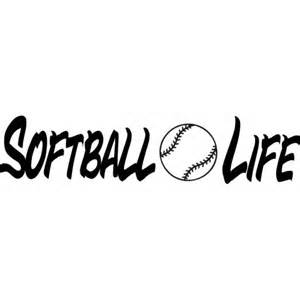 softball vinyl decal