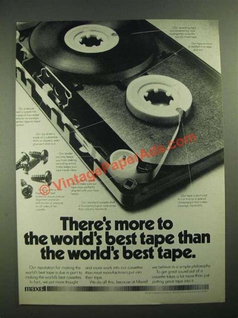 maxell cassette ad 1979 maxell cassette ad more to the world s best