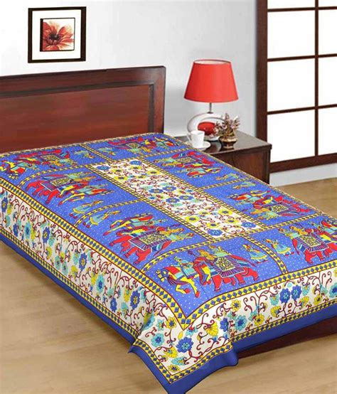buying bed sheets uniqchoice single cotton multi traditional bed sheet buy