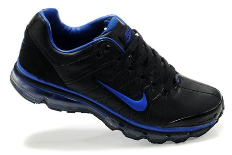 nike air max 2009 mens shoes black navy blue leather