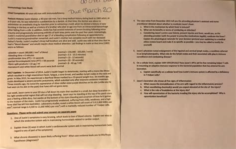 Section 40 2 The Immune System Answers by Due March 20 Immunology Study Aief Complaint