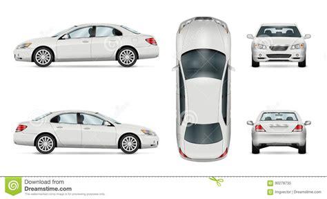 vehicle vector templates white vector car sedan template vector