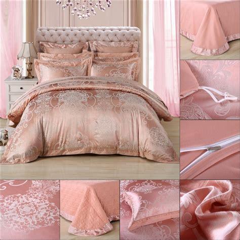 rose gold bedding rose gold 100 tencel cotton jacquard 2017 wedding bedding