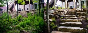 landscaping pics stonework before and after hoot landscape and design