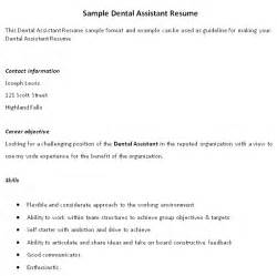 impressive dental assistant resume and self starter with