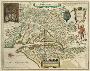 early map of virginia maps and cartography