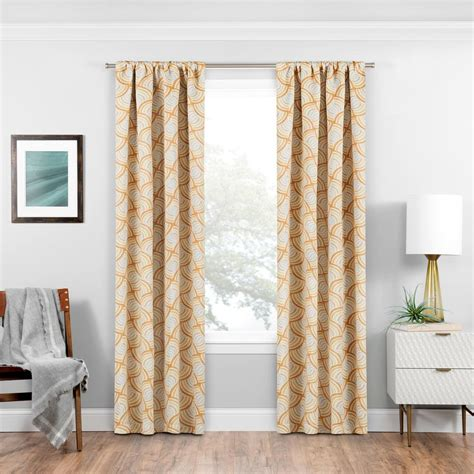 curtain rods for blackout curtains eclipse blackout benchley 95 in l gold rod pocket curtain