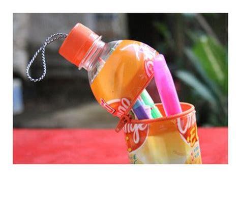 cara membuat kerajinan organik kering rainbow rainbow flower tempat pensil cantik dari botol