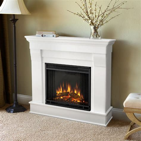 white electric fireplace sears