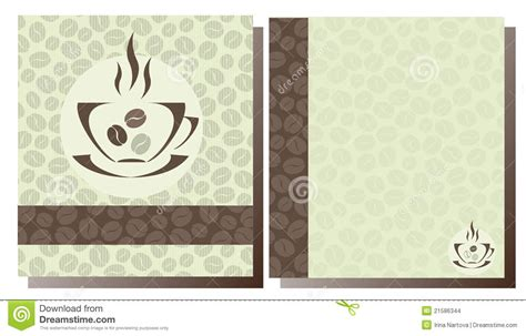 templates coffee shop menu stock images image 21586344