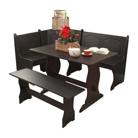 breakfast nook table shop tms furniture nook black dining set at lowes com