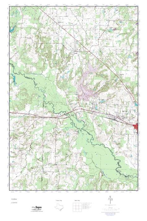 golden texas map mytopo golden texas usgs topo map
