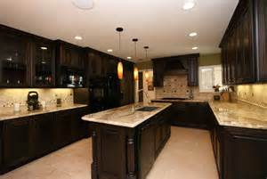 Kitchen Backsplash Ideas For Dark Cabinets by Kitchen Backsplash Ideas With Dark Cabinets Home Design
