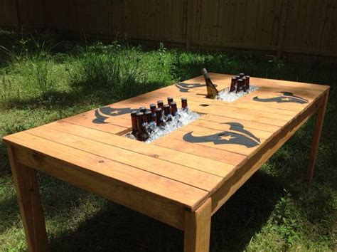 Patio Table With Cooler Pin By Tina Haupt Williams On Houston Texans Baby Pinterest Logos And