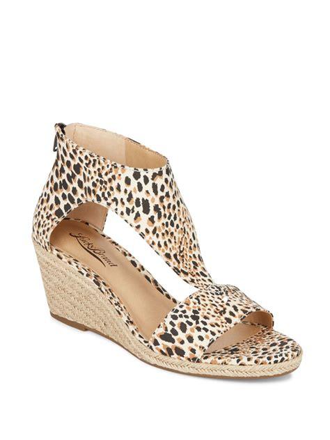 leopard print wedge sandals lucky brand karlenie leopard print espadrille wedge