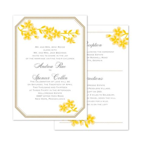 Wedding Invitations Yellow And Grey by Yellow And Grey Wedding Color Palettes Destined To Make