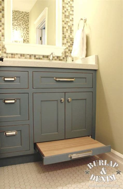 bathroom vanity with step stool how awesome is this pull out stool in the kid s bathroom