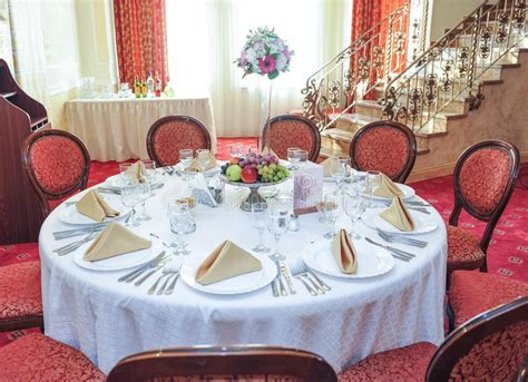 Wedding Table Setting. Table Set For An Event Party Or
