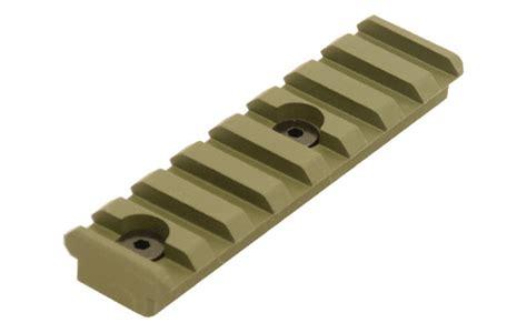 picatinny rail section utg pro 3 14 quot 8 slot keymod picatinny rail section od green