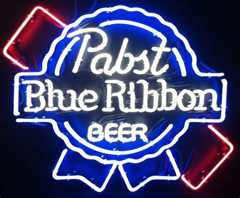 A Blue Ribbon For 31 by Pabst Blue Ribbon Vintage Neon Sign Measuring 31 Inches