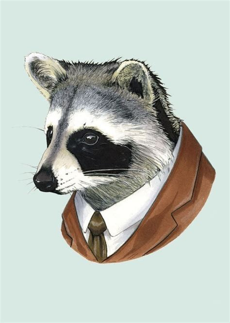 fancy dressed animals a collection of illustrations books berkley raccoon framed print