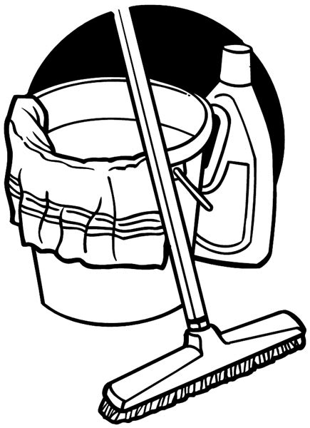 Drawing Of Cleaning Supplies cleaning supplies coloring pages sketch coloring page