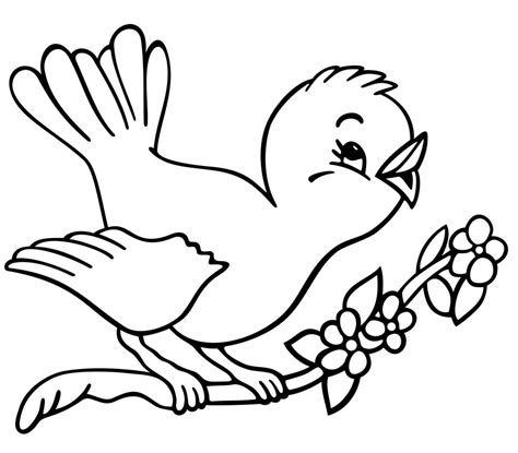 coloring pages of birds and flowers coloring page art
