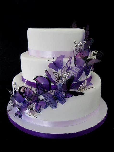 Butterfly Wedding Cake by Purple Butterfly Wedding Cake Flickr