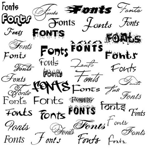 different font styles