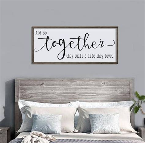 Bedroom Signs by And So Together They Built A They Loved Wood Sign