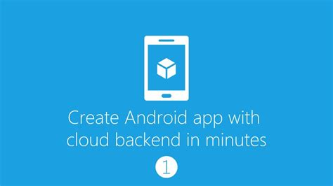 make android app create android app with cloud backend part 1 azure mobile service