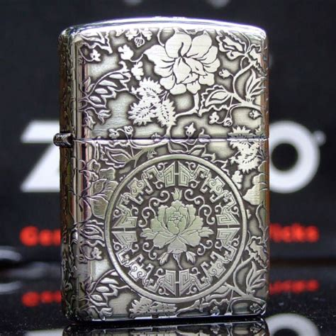 tattoo camo comprar regular zippo sterling silver peony flower lighter