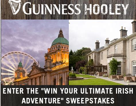 Irish Sweepstakes Winners List - guinness hooley win a 9 day trip for 2 to ireland valued at 14 giveawayus com