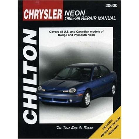 online service manuals 1995 plymouth neon interior lighting 1995 1999 dodge neon chilton paper repair manual northern auto parts