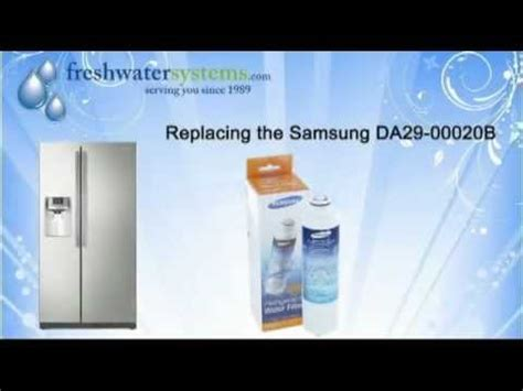 reset samsung water filter how to replace the samsung da29 00020b refrigerator water