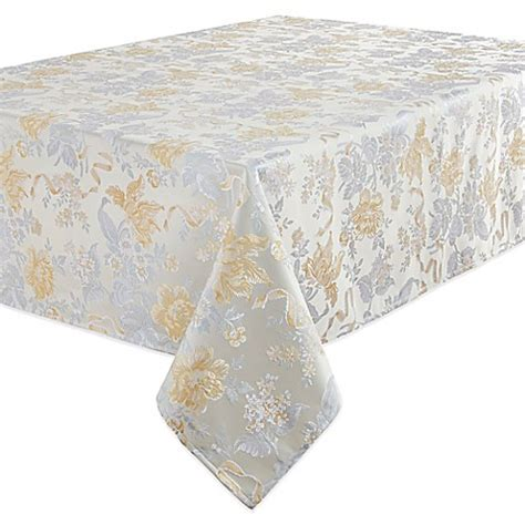 bed bath beyond tablecloth buy waterford 174 linens eva 70 inch round tablecloth from
