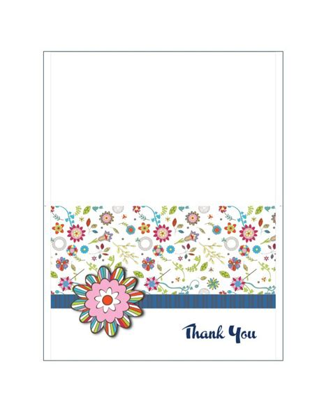 you card template 30 free printable thank you card templates wedding