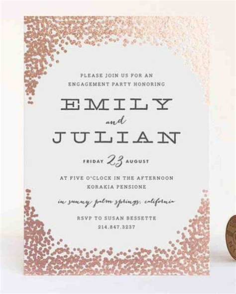 %name foil pressed wedding invitations   Pink Invitation with Gold Foil Writing   Wedding Invites & Stationery Photos   Brides.com