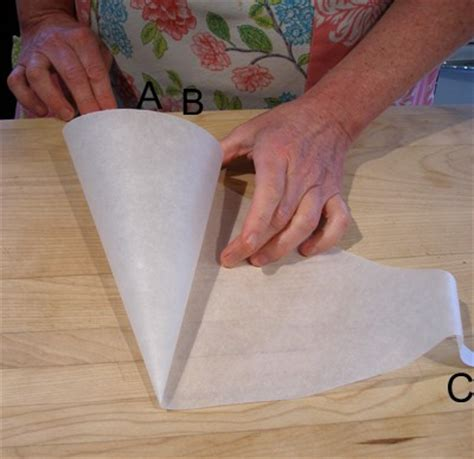 How To Make Parchment Paper Bags - parchment paper cone how to make for piping