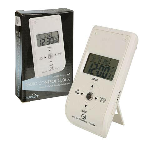 radio controlled white travel bedside digital alarm clock coloured backlight new 5020133804363