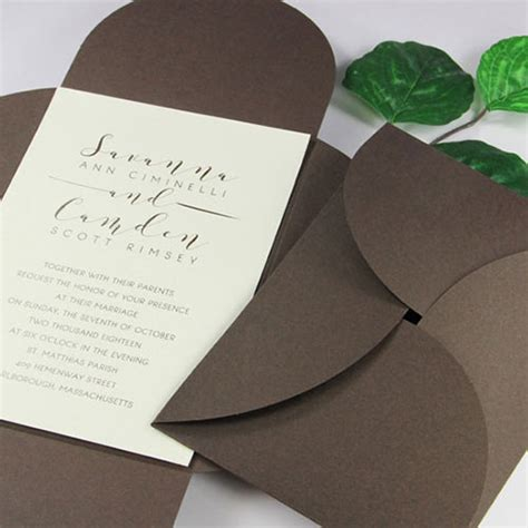 Paper To Make Invitations - pocket invitations envelopes cards supplies