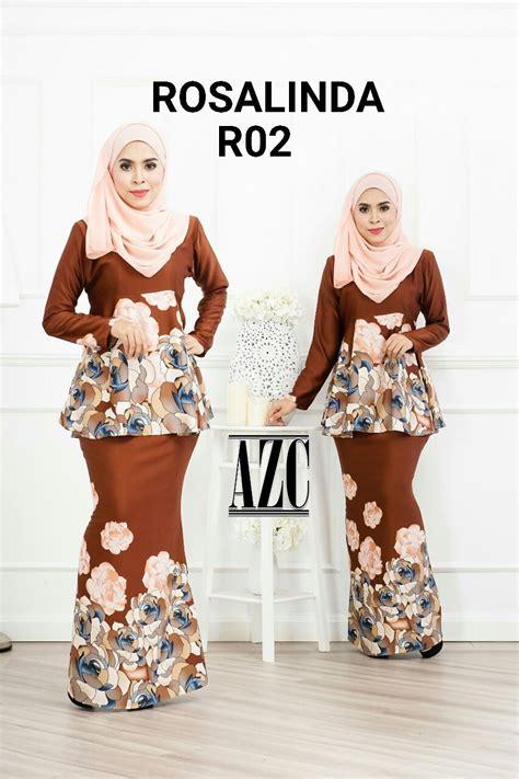 Rosalinda 3 Warna dropship melur closet exclusive kurung rosalinda