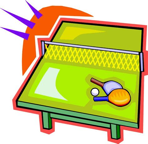 Computer Table ping pong clip art clipart best
