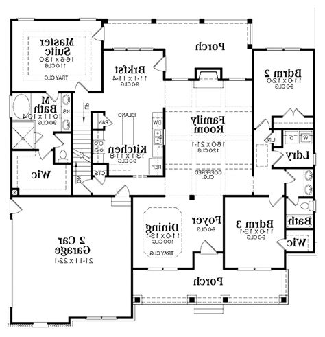 ranch house floor plans new home plans design