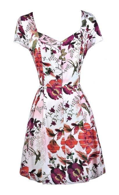 Wear Sweet Flower Sundress boutique floral print dress fall floral print
