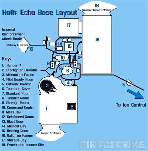 wars floor l hoth echo base layout wars battle of hoth