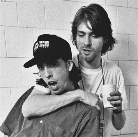 Curt Cobain And Nirvana dace grohl and kurt cobain nirvana grunge rock r o c